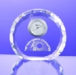 Faceted Crystal Round Clock